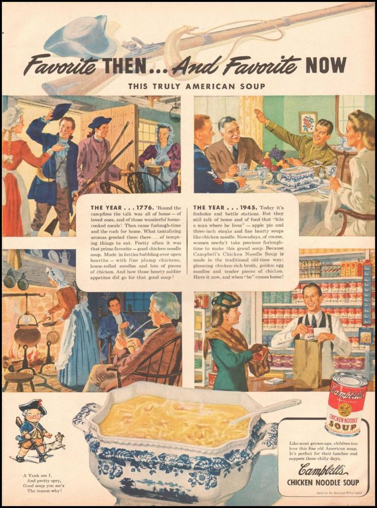 1945 Campbell's Soup Ad