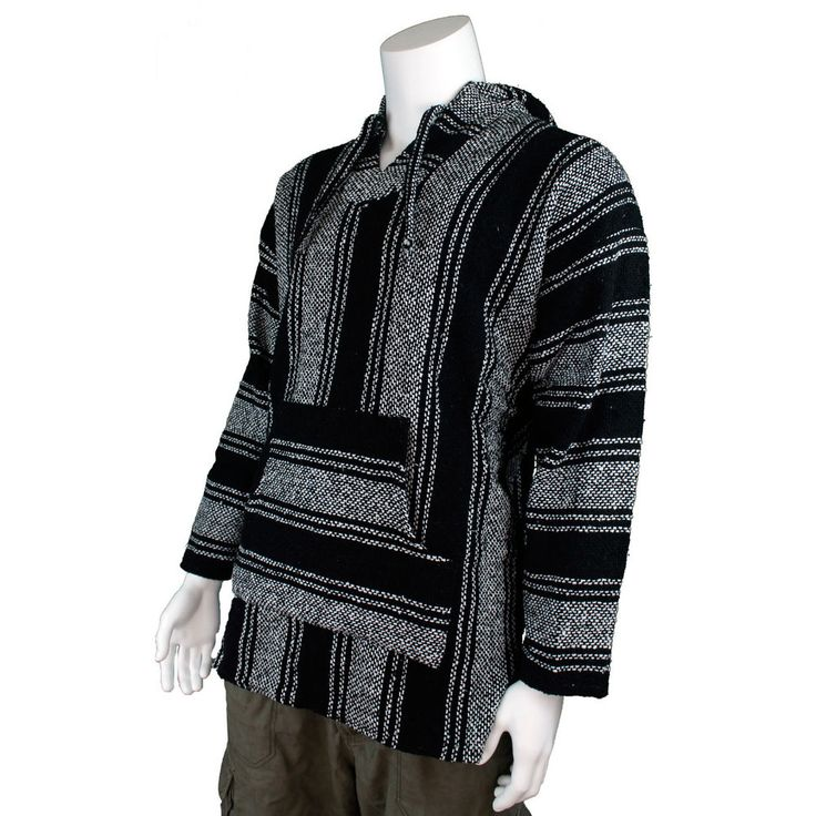 Mexican Jergas or Baja tops are very practical hooded outwear made from a cotton acrylic blend which gives them a durable rustic exterior with a soft, cosy brush interior. These are classic mexican baja hoodies popular in the hippie, surf, and skate subcultures of North America. | eBay!