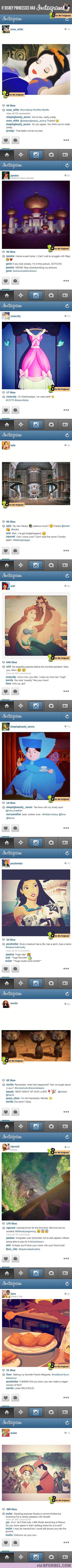 If Disney princesses had Instagram.
