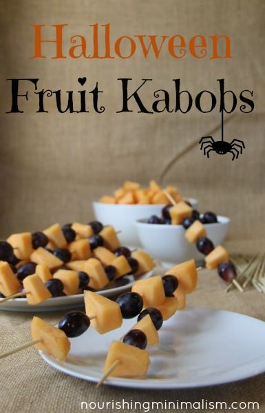 Halloween Fruit Kabobs                                                                                                                                                                                 More