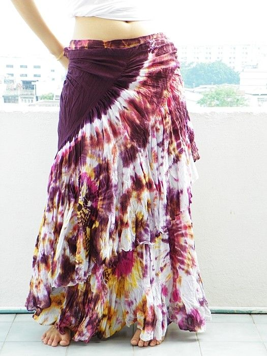 Wrap Sexy Tie Dye Cotton Summer Skirt