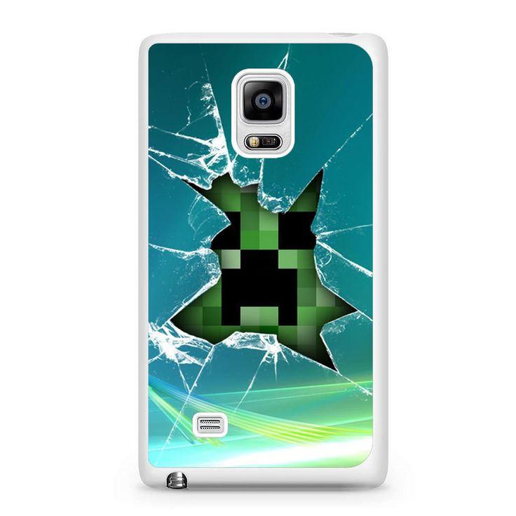 Creeper Broken Screen: Minecraft Creeper Glass Broken Samsung Galaxy Note Edge