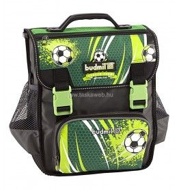Budmil  BRIGHT 17 zöld -fekete focilabdás iskolatáska alsósoknak 10100062-S74
