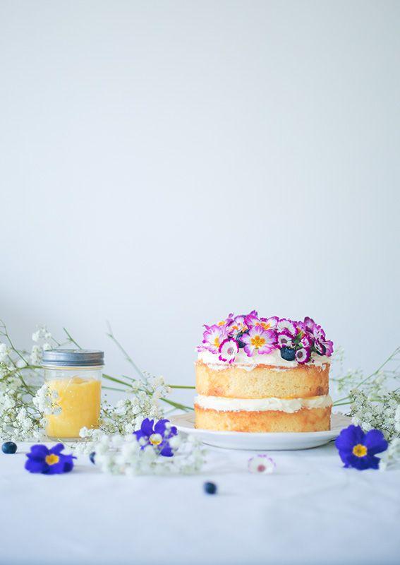 Lemon Victoria Sponge Cake - recette génoise au citron avec chantilly citron mascarpone et lemon curd - Recette victoria sponge cake français