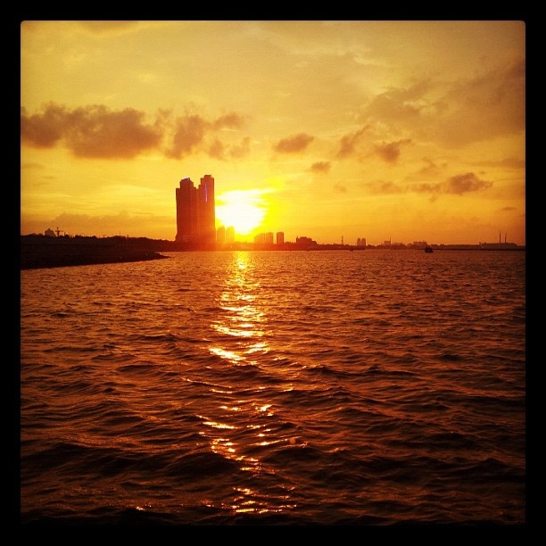 Sunset view from Ancol, Jakarta