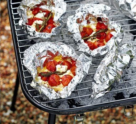 Roasted tomato & feta parcels recipe - Recipes - BBC Good Food