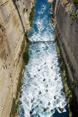 ... through the Canal of  Corinth , Peloponnese