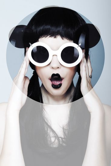 Editorial - Fashion Photography #black #lipstick #fashion. Sunglasses After Dark.....