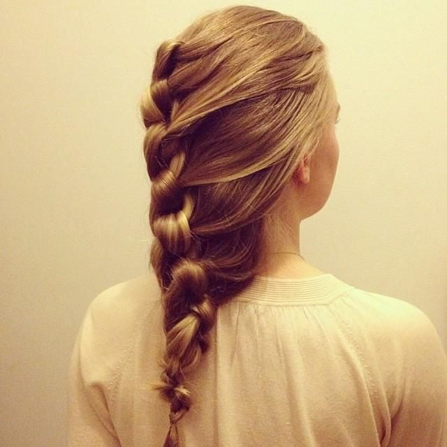 French knot braid | Hairstyles for Long Hair | Pinterest