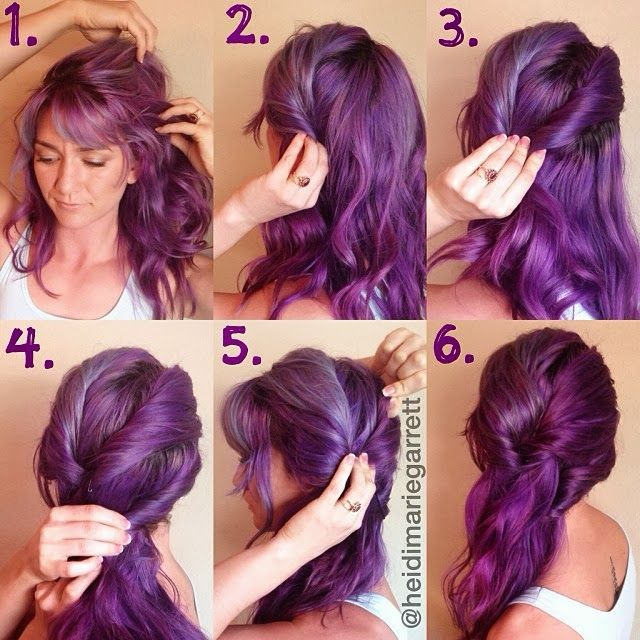 Step-by-step for a side swept hairstyle
