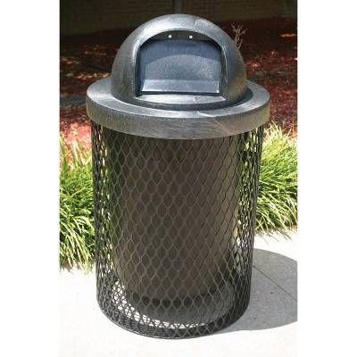 Trash Disposal - Outdoor Trash Receptacles - 32 Gallon L Series Trash Receptacle