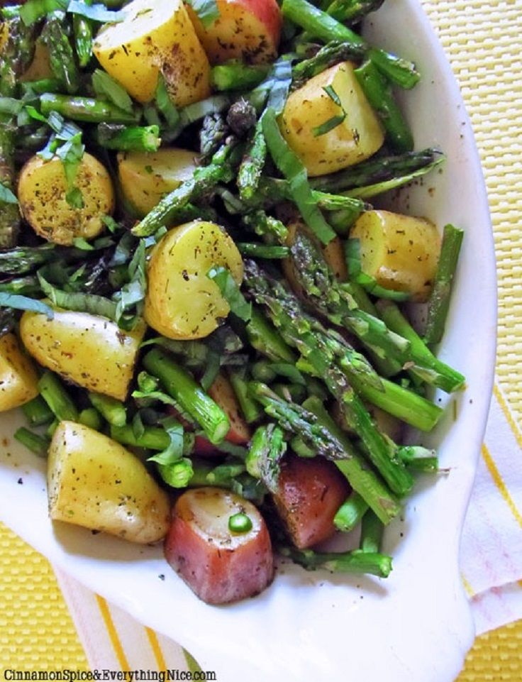 Roasted New Potatoes and Asparagus