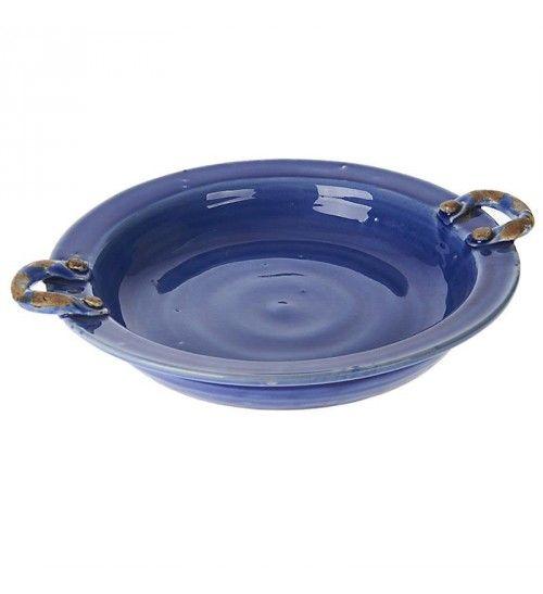 CERAMIC BOWL IN BLUE COLOR 33X30X8