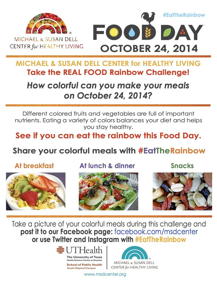 To celebrate #FoodDay2014, we challenge YOU to Eat the Real-Food Rainbow.