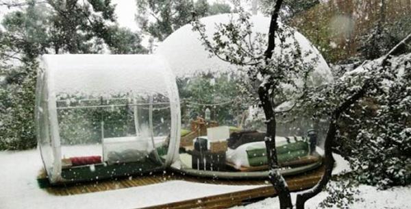ドーム型のバブルホテル