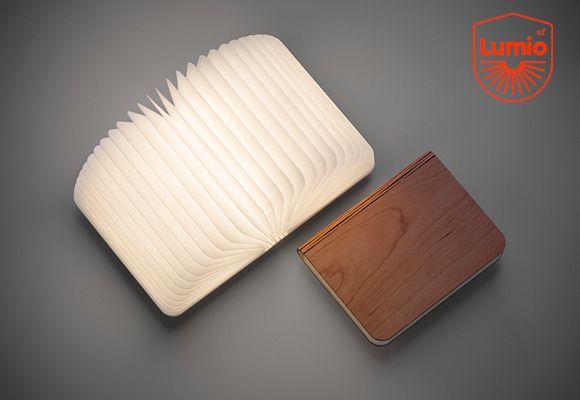 lumio :: book shape portable lamp for kids
