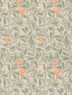 Morris and Co's Arbutus is taken from the William Morris wallpaper collection and is in stock and available for purchase.