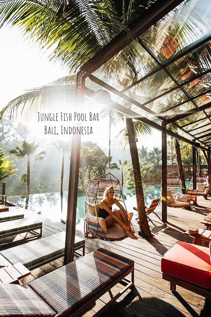 Jungle Fish Pool Bar In Bali Indonesia Jungle Fish Pool Bar Is Ubud S Famous Open Air Split Level Restaurant With Beautiful Hotels Ubud Resort Luxury Hotel