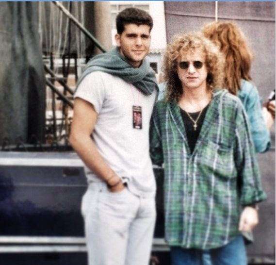 1993, Lima, Peru - Lou Gramm and Cristian Meier,  Peruvian actor and singer in Latin America