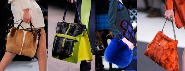 Fashion Handbags Fall-Winter 2014-2015: Fur