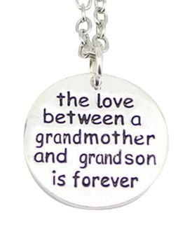The Love Between a Grandmother and Grandson is Forever Necklace