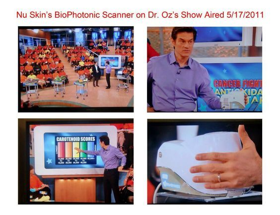 """Dr. Oz tests himself and audience for Antioxidant levels using our BioPhotonic Scanner. IM me to find out how to get your """"Health Score""""."""