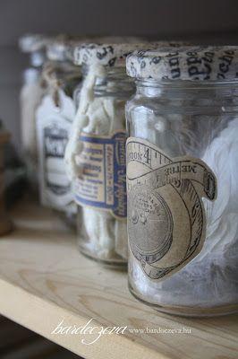 Befőttes üvegből stílusos tároló - PURE DESIGN #pentart #dekupázs