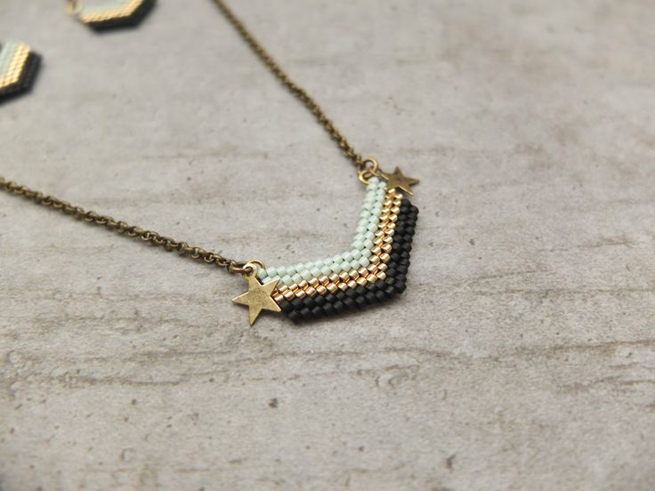 My-French-Touch - Collier ★ chevrons ★ bronze CO1501