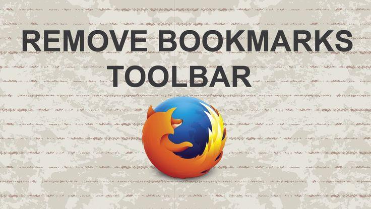 How to Remove Bookmarks Toolbar in Firefox  #video #tutorial #youtube #free #firefox #toolbar #firefoxtips #mozillafirefox #bookmark