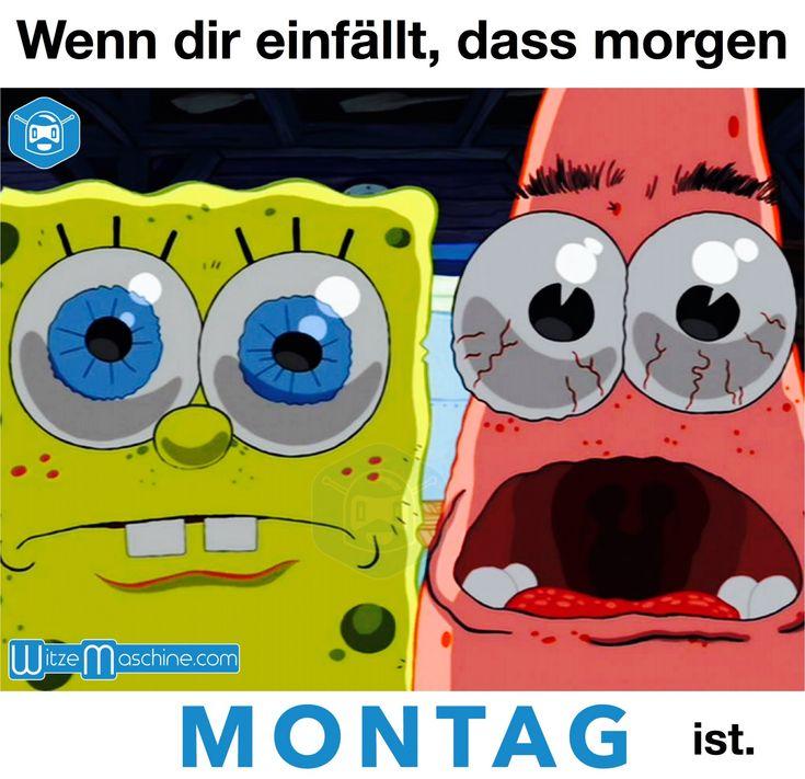 Wenn dir einfällt das morgen wieder Montag ist - Spongebob und Patrick