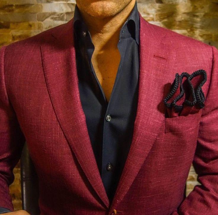 Pochette En Coton Pour Hommes Carré - Coton Corail 7 Hommes Carrés Par Vida Vida Dq2fIO8hN