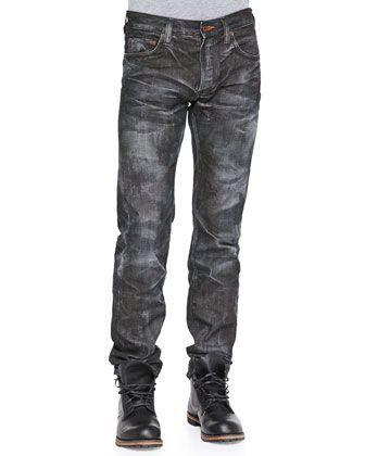 Demon Straight Leg Jeans, Black Wash  by PRPS at Bergdorf Goodman.