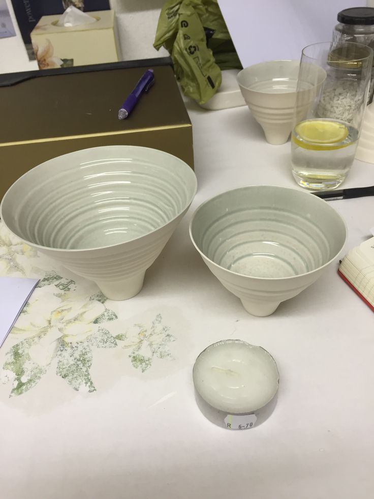 Slip cast bowls