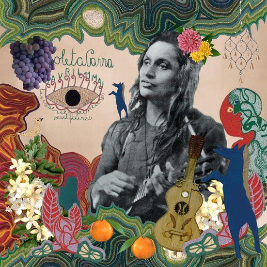 Violeta Parra en Puntonet by Ignacia Hofmann, via Behance