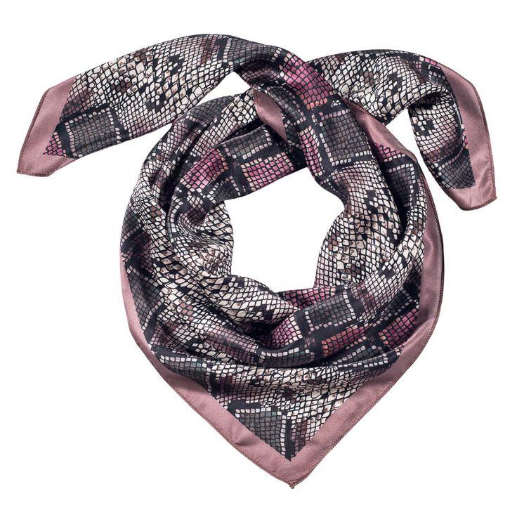 PINK snake print scarf
