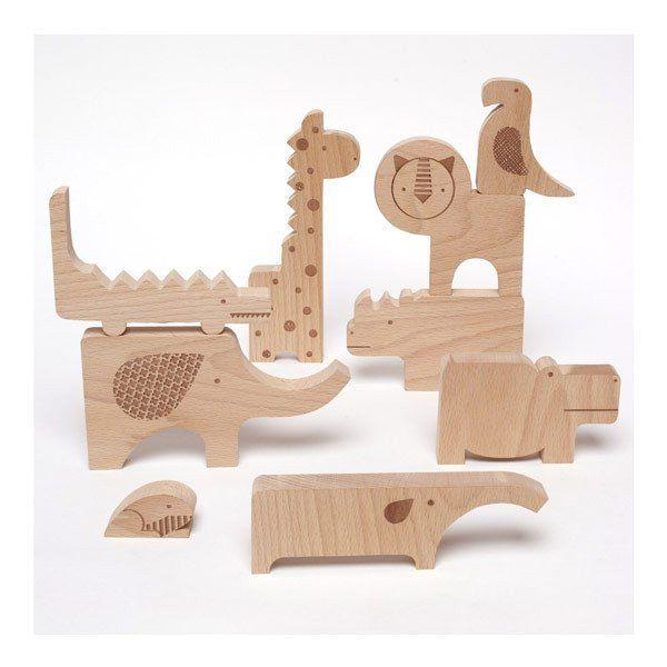 Wood Puzzle & Play - Safari Jumble $52