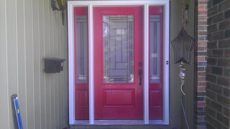 Completed custom built entry door from capitall.ca