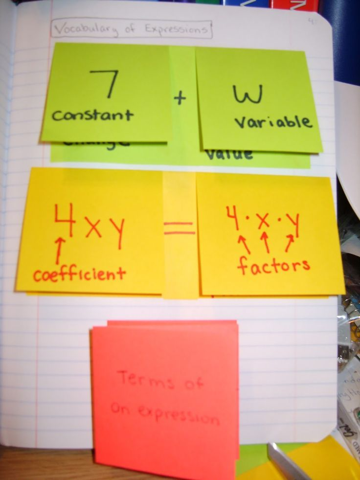 A Sea of Math: Variable, Factors, Terms, Oh My...They tend to get so hung up on the vocab in math!
