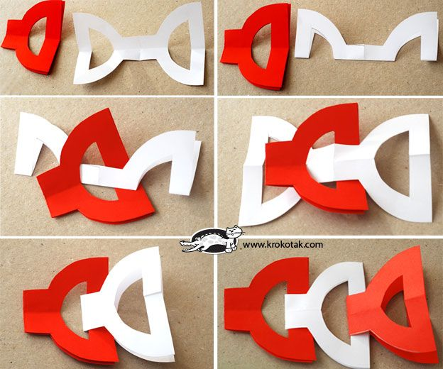 Easy NO-GLUE Red-and-White Garlands | krokotak