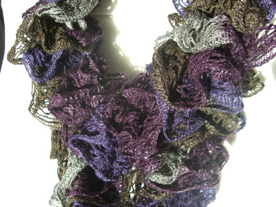Extra Long Scarf Winter Loopy Hand Knit by KrystalzKreations, $25.00