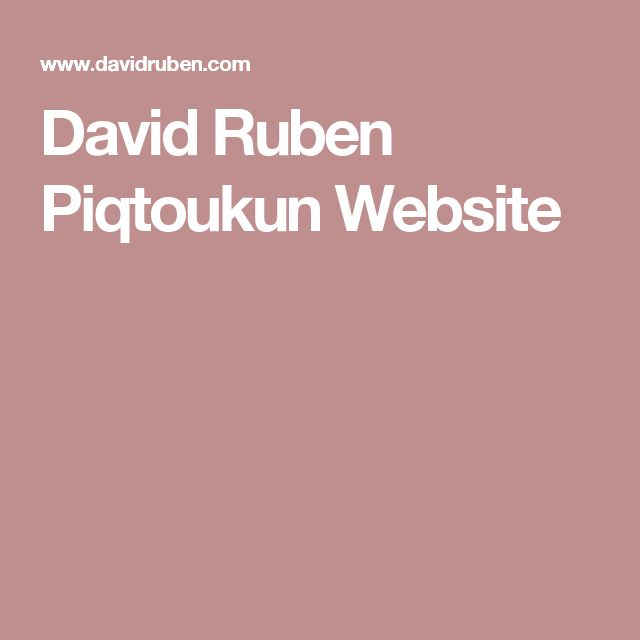 David Ruben Piqtoukun Website