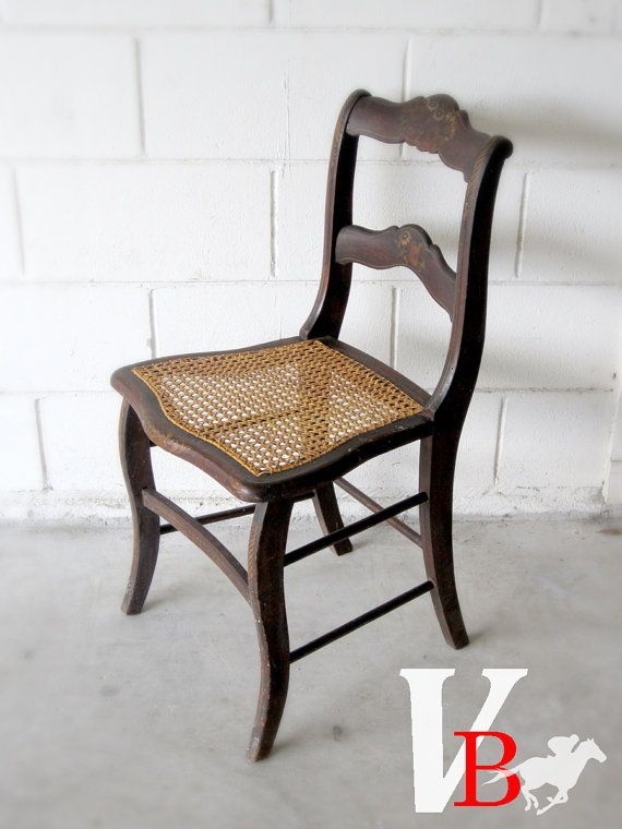 ... rocking chair victorian caned seat wooden chair with floral painting
