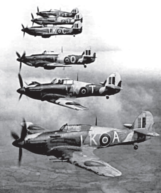 87 Squadron RAF in formation, from 'Australian Eagles: Australians in the Battle of Britain' by Kristen Alexander. #australiansinthebattleofbritain #warplanes #kristenalexander #pilots #luftwaffe #blackandwhite #photography #warhistory