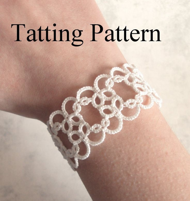 PDF original shuttle tatting pattern of the Christina bracelet.  This listing is for a digital pdf file of my Christina bracelet original shuttle tatting pattern. This is my most popular pattern.  This is NOT the finished item.  Difficulty level: Beginner  Materials and tools: One tatting shuttle, size 20 tatting / crochet thread, crochet hook (if your shuttle does not have one), jump or split rings, bracelet findings, a thin needle (for sewing in the ends)  Techniques used: rings, chains…