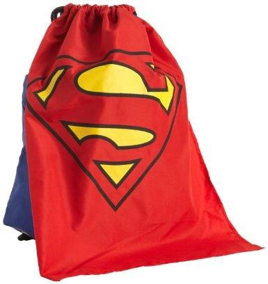 Amazon.com: DC Comics Men's Superman Backsack, Navy, One Size: Clothing