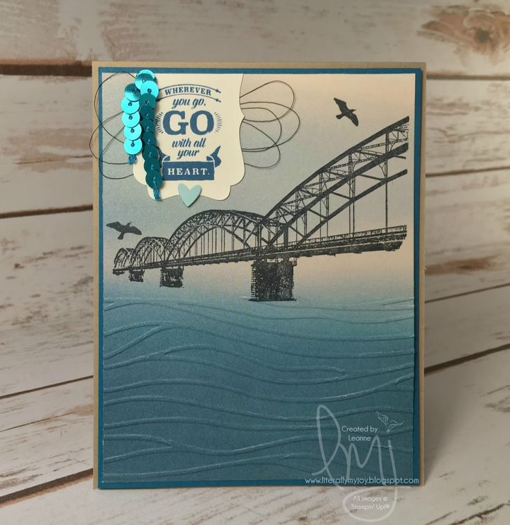 Stampin' Up - Wherever You Go stampin set; Seaside embossing folder