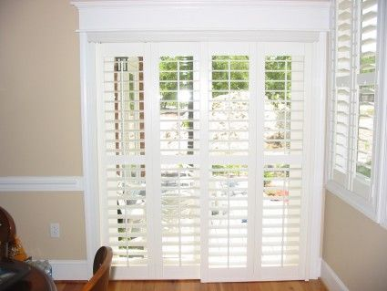 Plantation Shutters For Sliding Glass Door Ideas For New