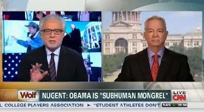 Wolf Blitzer: Ted Nugent used Nazi terminology, 'subhuman mongrel,' to describe President Barack Obama   PunditFact