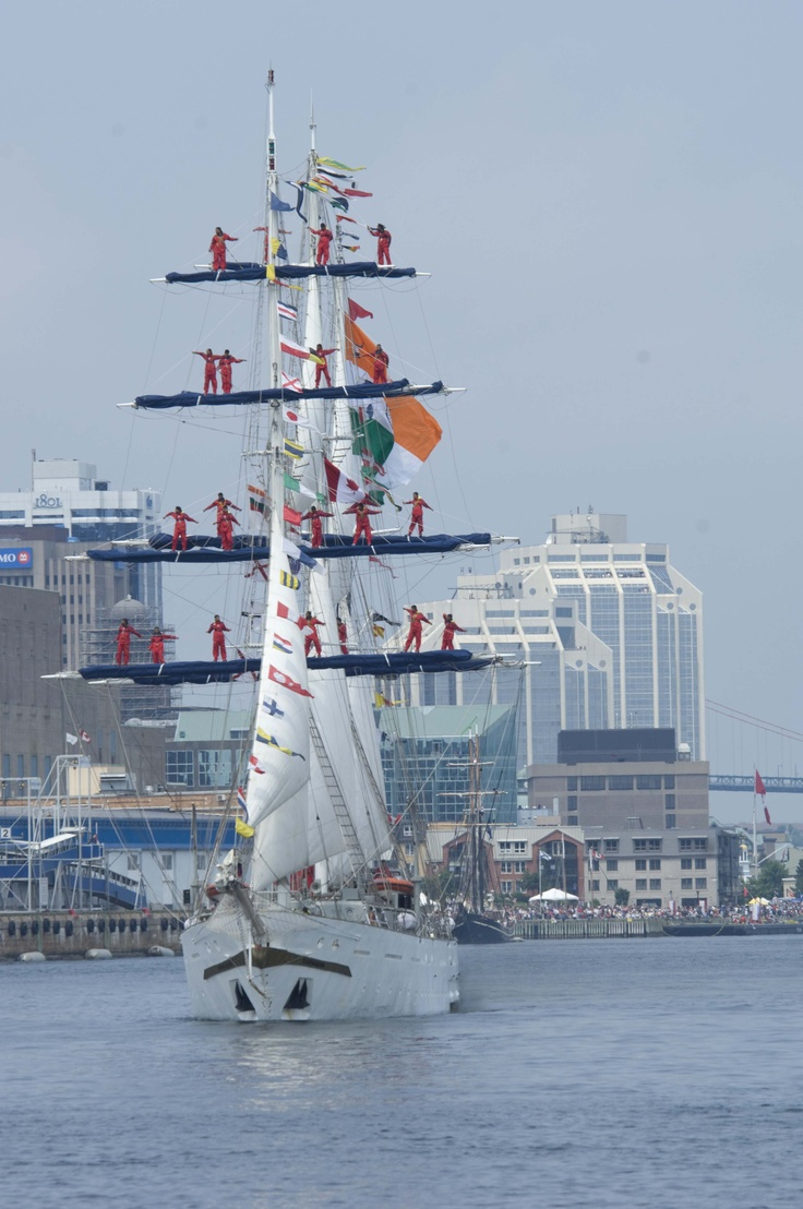 Tall Ships love to see the ships in Halifax harbour