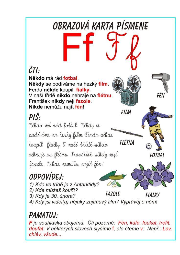 Inkluzivní škola - písmeno F